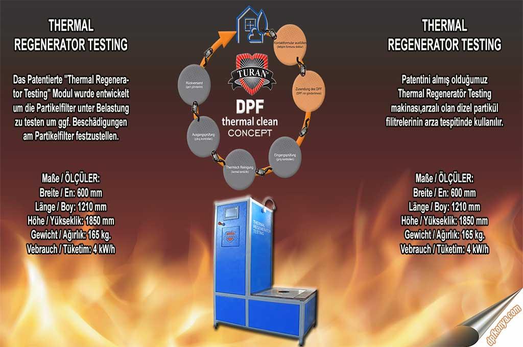 Dpf konya-Termal Regenerator Testing